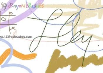 Crayon Scribble Line