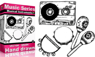 Vol.2 : Hand Drawn Musical Instruments