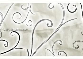 Hand Drawn Feathered Swirls