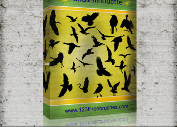 Flying Birds Silhouettes Vector and Photoshop Brush Pack