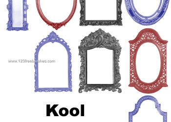 Vintage Ornate Frames Set 1