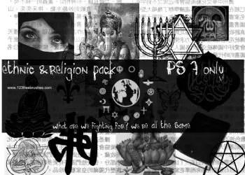 Hindu God Lord Ganesha – Saraswati – Buddha and Religion Symbols