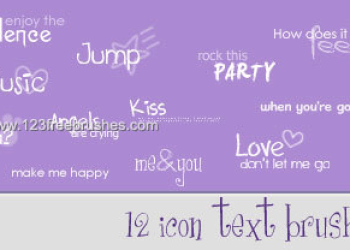 Cute Icon Text