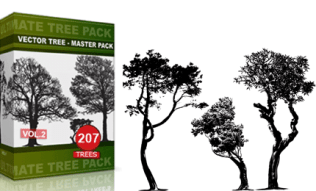 Vol.2 : Tree Vector & Brush Pack