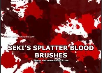27 Blood Splatter Effect Download Brushes | Photoshop Free