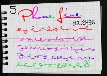 Phone Line Scribble