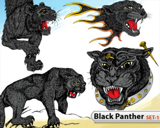 Black Panther Vector -