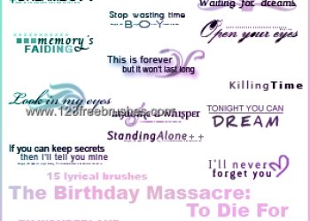 The Birthday Massacre – to Die For Lyrics