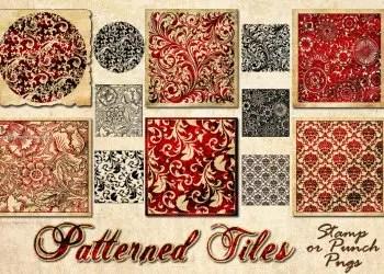 Baroque Floral Tiles Pattern