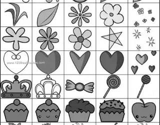Cute Stuff Brushes – Flowers – Heart – Cake – Fruits – Shapes