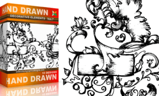 Vol.7 : Hand Drawn Sketchy Decorative Elements