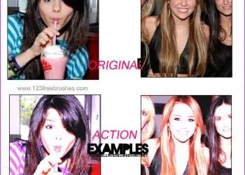 Violet Color Effect Photoshop Action