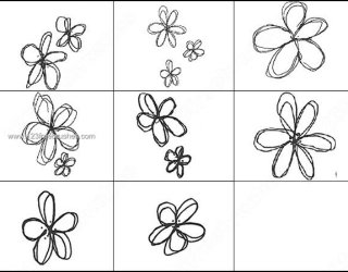 Hand Drawn Flowers Brushes