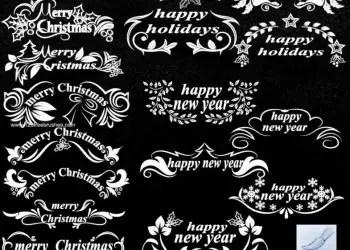 Christmas Text Decoration