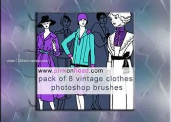 Vintage Clothes Brush Photoshop