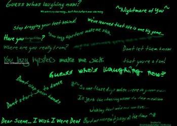 Dear Scene I Wish I Were Deaf Lyrics