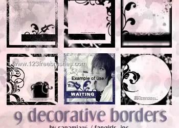 Deco Border Frames Set