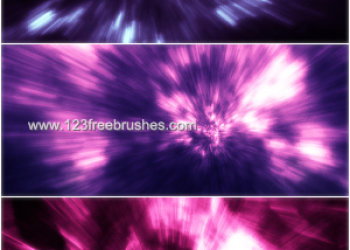 Abstract Christmas Tree Brushes