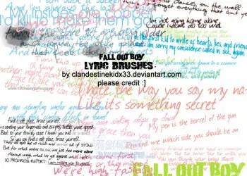 Fall Out Boy Lyric
