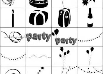 Free Birthday Brushes – Balloons – Cake – Candle – Gift Box Brushes Photoshop