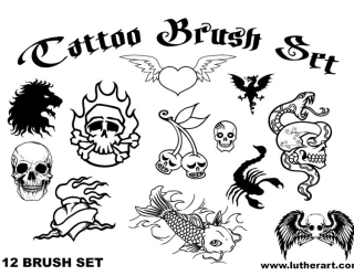Photoshop Free Dragon Tattoo Designs Brushes