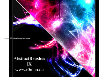 Free Abstract Brush Set – 9