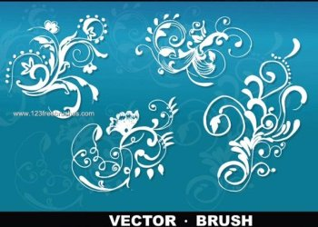 Hand Drawn Floral Vector and Photoshop Brush