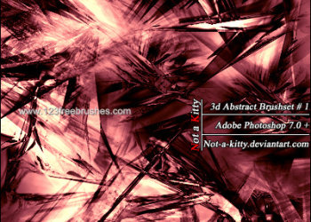 Abstract Fractal Red