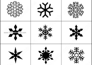 snowflake Elements Photoshop Brushes