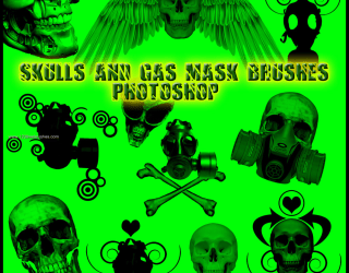 Skull and Gas Mask
