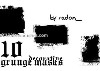 Grunge Masks Decorative