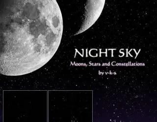 Night Sky Stars and Moon