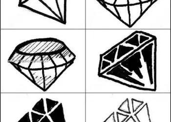 Gemstone – Diamond Shapes Photoshop Brushes