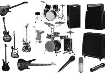 Musical Instruments Guitars – Drums – Microphone