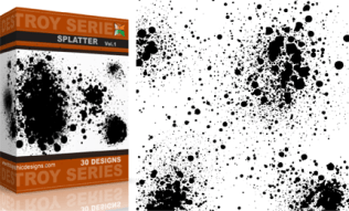 Vol.1 : Destroyed Paint Splatter Vectors