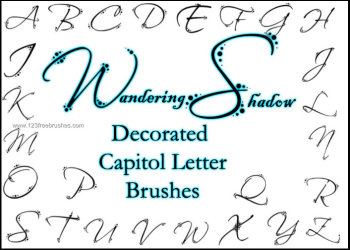 Ws Decorated Letters