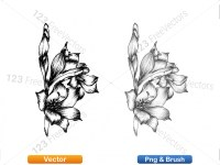 5003056-hand-drawn-sketch-flowers-vector-and-photoshop-brush-pack-09_p009