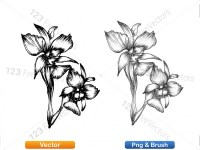 5003056-hand-drawn-sketch-flowers-vector-and-photoshop-brush-pack-09_p013