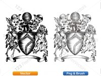 5012010-hand-drawn-sketch-heraldic-coat-of-arms-vector-and-brush-pack-01_p010