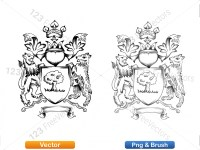 5012010-hand-drawn-sketch-heraldic-coat-of-arms-vector-and-brush-pack-01_p013