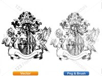 5012011-hand-drawn-sketch-heraldic-coat-of-arms-vector-and-brush-pack-02_p008