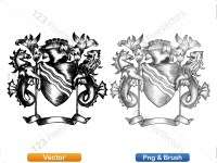 5012011-hand-drawn-sketch-heraldic-coat-of-arms-vector-and-brush-pack-02_p016