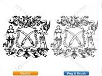 5012012-hand-drawn-sketch-heraldic-coat-of-arms-vector-and-brush-pack-03_p006
