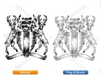 5012012-hand-drawn-sketch-heraldic-coat-of-arms-vector-and-brush-pack-03_p019