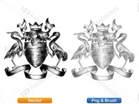 5012013-hand-drawn-sketch-heraldic-coat-of-arms-vector-and-brush-pack-04_p012