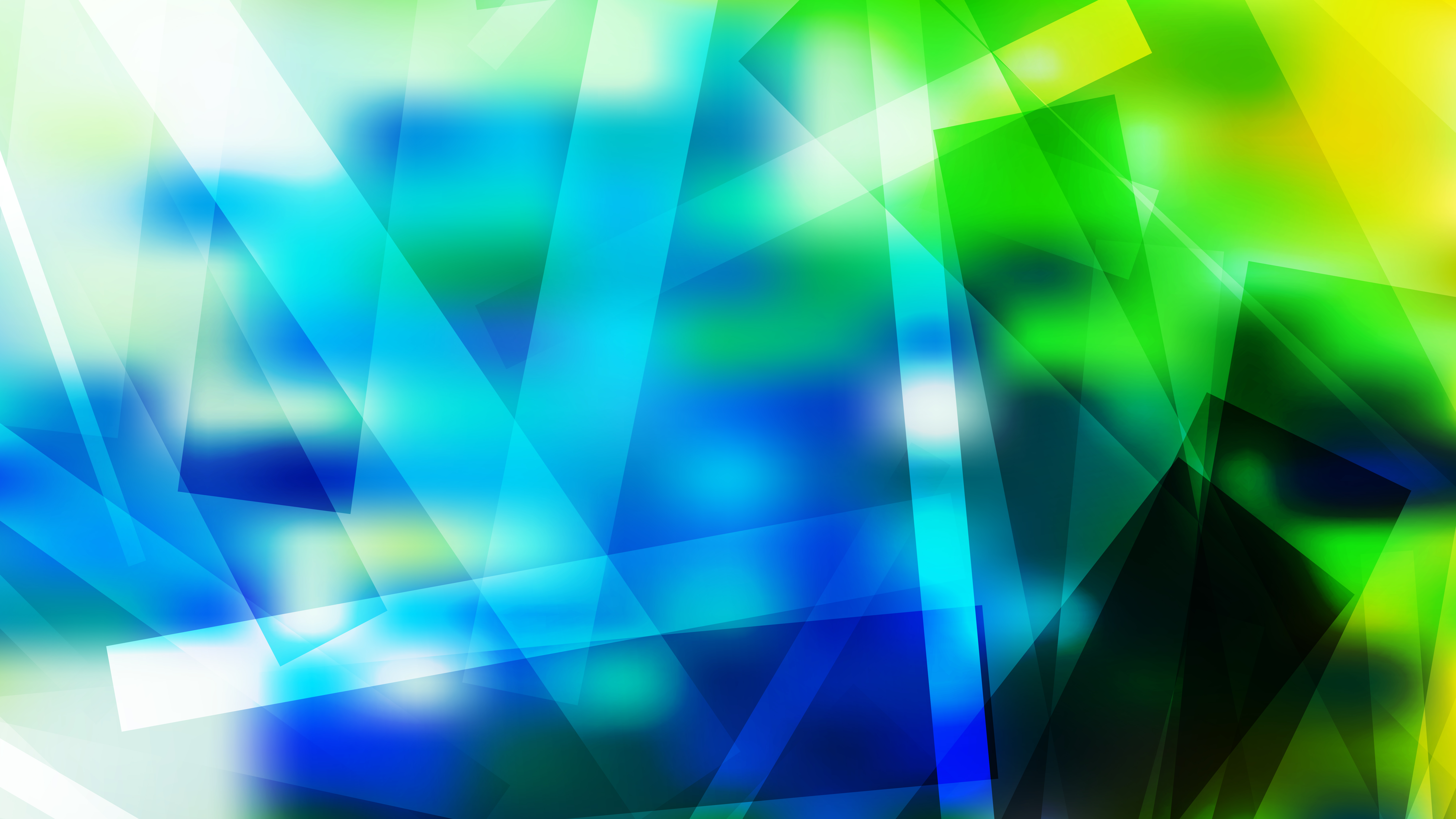 Geometric Abstract Blue Green And White Background Graphic