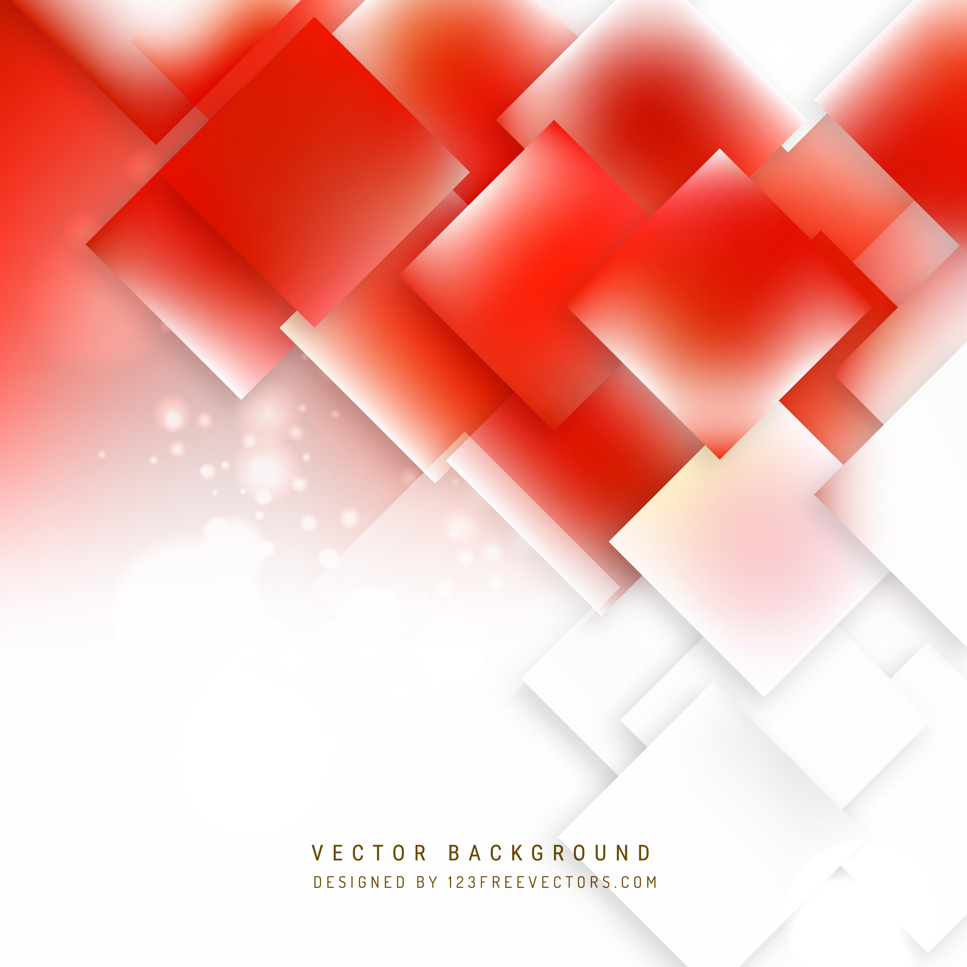 Abstract Red White Geometric Square Background