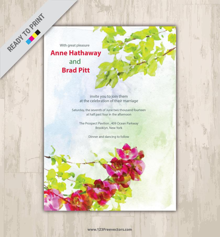 Fl Watercolor Invitation Clip Art Preview