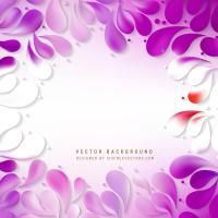purple floral vector backdrop. purple 3d design ...