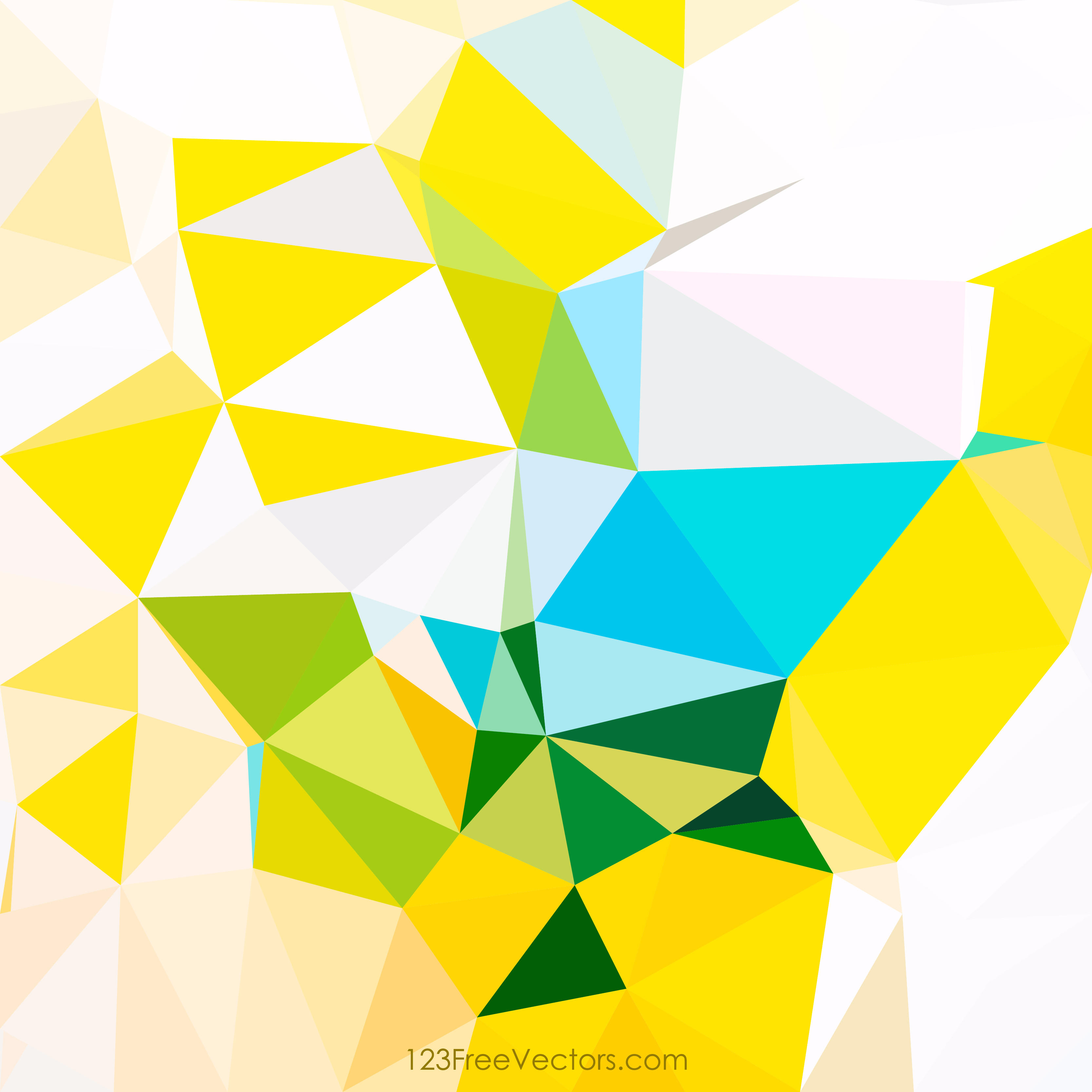 low poly colorful background
